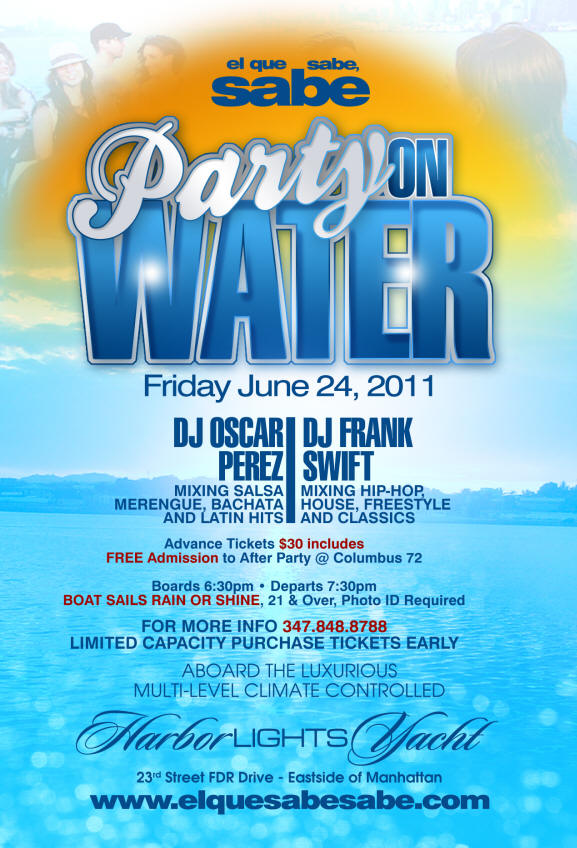 Party on Water Flyer
